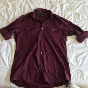Marc Anthony Maroon Button Down Long Sleeve